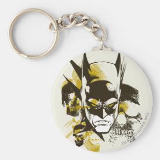Capucha y cráneos de Batman Llavero Redondo Tipo Pin