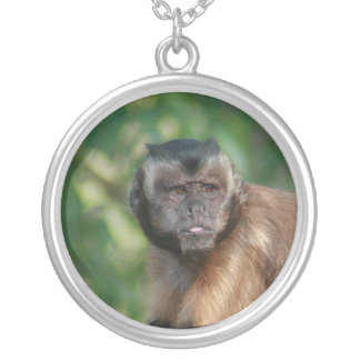 Capuchin Monkey Cute But Cranky Silver Plated Necklace
