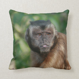 Capuchin Monkey Cute But Cranky Throw Pillow
