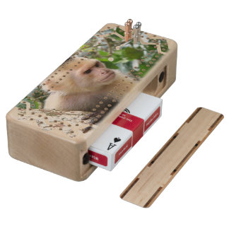 Capuchin Monkey Maple Cribbage Board