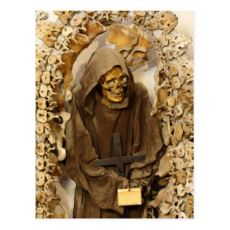 Capuchin Monk's Skeleton Postcard
