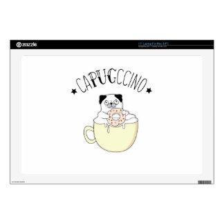 ¡CaPUGccino lindo estupendo! ¿Barros amasados y Portátil Calcomanía