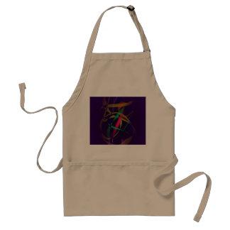 Capullo colorido en un espacio púrpura oscuro delantal
