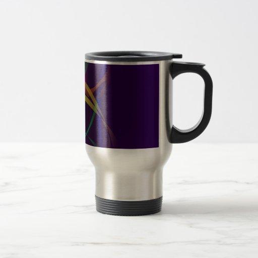 Capullo colorido en un espacio púrpura oscuro tazas de café