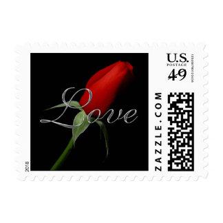 Capullo de rosa Amor Estampilla De Boda Stamp