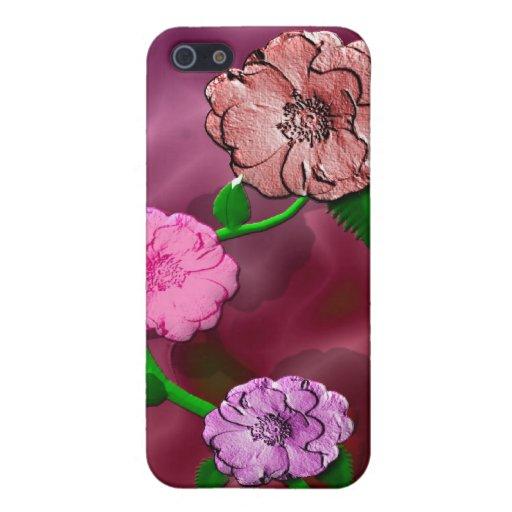Capullo de rosa precioso iPhone 5 protector