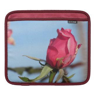 Capullo de rosa rosado funda para iPads
