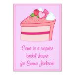 Capullo de rosa y corazón nupciales de la invitación 12,7 x 17,8 cm
