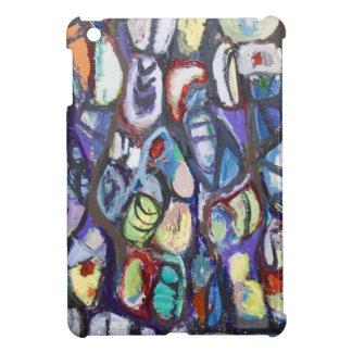 Capullos coloridos (expresionismo abstracto) iPad mini protectores