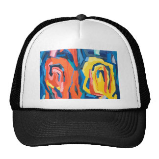 Capullos de rosa abstractos (expresionismo gorra