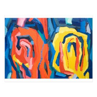 Capullos de rosa abstractos (expresionismo postal