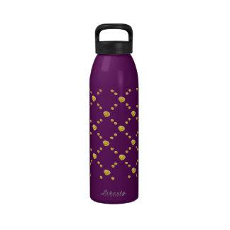 Capullos de rosa amarillos botella de agua reutilizable