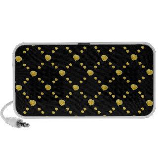 Capullos de rosa amarillos en negro iPod altavoz
