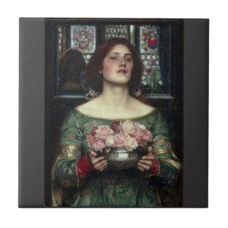 Capullos de rosa de John William Waterhouse Azulejos Ceramicos