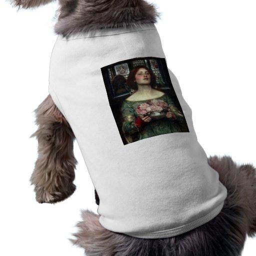 Capullos de rosa de John William Waterhouse Camisetas De Perro