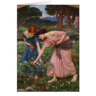 Capullos de rosa de YE del frunce de Juan W. Tarjeta De Felicitación