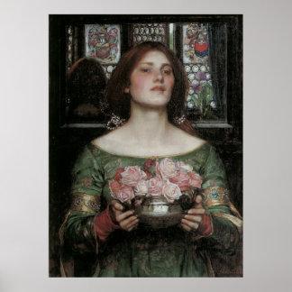 Capullos de rosa de YE del frunce del Waterhouse m Poster