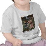 Capullos de rosa de YE del frunce mientras que Camiseta