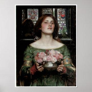Capullos de rosa de YE del frunce mientras que pue Poster