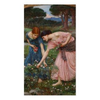 Capullos de rosa de YE del frunce mientras que pue Plantillas De Tarjetas De Visita