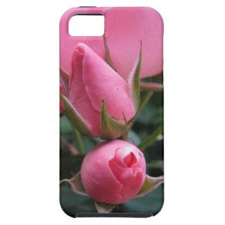 Capullos de rosa rosados iPhone 5 Case-Mate cobertura
