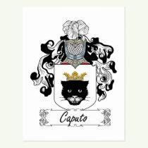 Caputo Family Crest Postcard