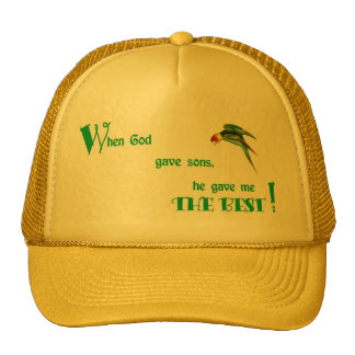 capWhen God Gave Sons Trucker Hat