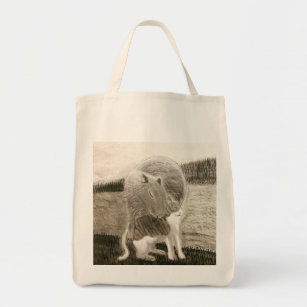 Capybara and the cat tote bag