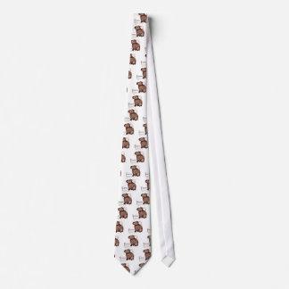 capybara - chocolate neck tie
