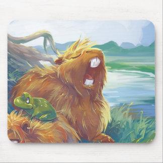 Capybara de bostezo tapete de ratones