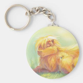 Capybara Family Keychain
