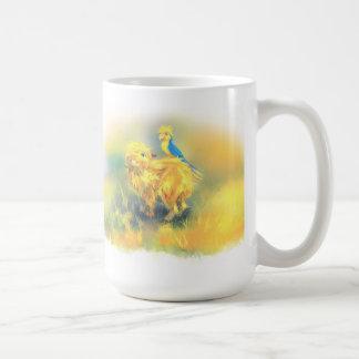 Capybara Kuku and parrot Krou Coffee Mug