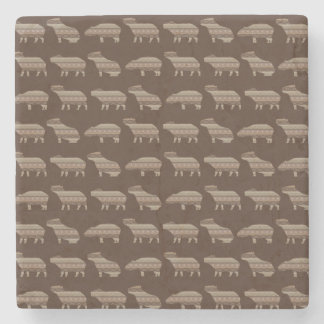 Capybara Pattern Coaster