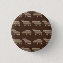 Capybara Pattern Pinback Button