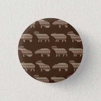 Capybara Pattern Pinback Button