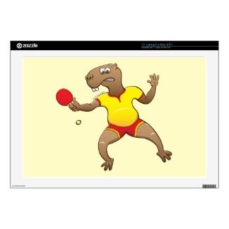 Capybara playing table tennis decals for laptops
