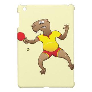 Capybara playing table tennis iPad mini cases