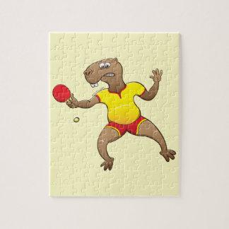 Capybara playing table tennis jigsaw puzzle