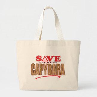 Capybara Save Large Tote Bag