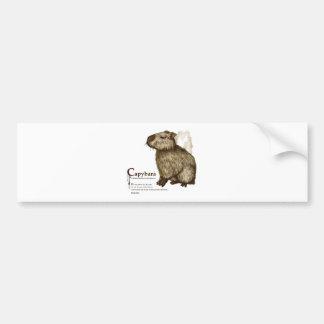 capybara - sepia bumper sticker