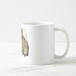 capybara - sepia coffee mug