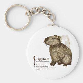 capybara - sepia key chain