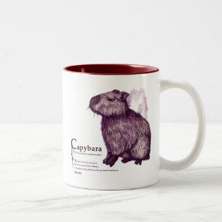 capybara - wine Two-Tone coffee mug