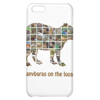 Capybaras on the loose cover for iPhone 5C