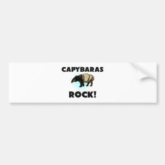 Capybaras Rock Bumper Sticker