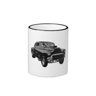Car> 1951 de la raza del gasser de B&W Chevy Taza De Dos Colores