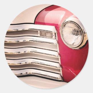 Car 1 classic round sticker