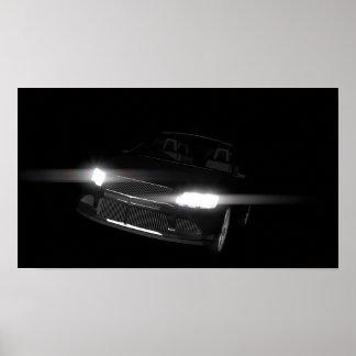 car-586884. DARK BLACK FAST RACING CAR TRANSPORTAT Poster