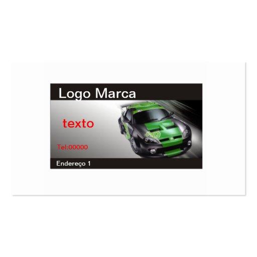 car 7, Then Mark, Address 1, Tel: 00000, text Business Card Templates