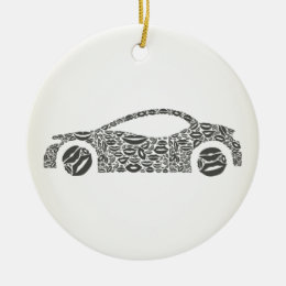 Car a lip ceramic ornament